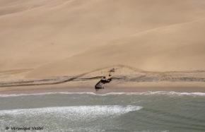 Swakopmund, côte des squelettes, épave Shawney 1985 (Namibie)
