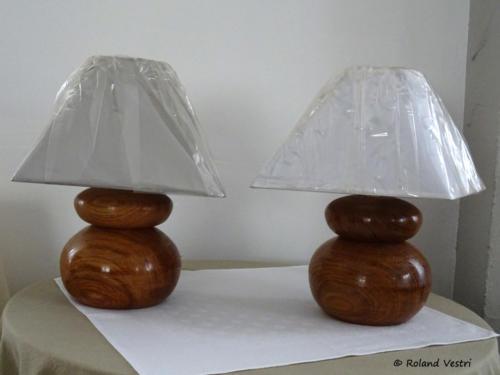 Lampes 'duo' (chêne)