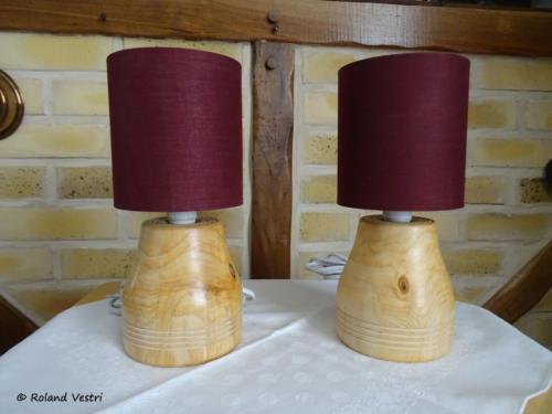 Lampes 'duo' (thuya)