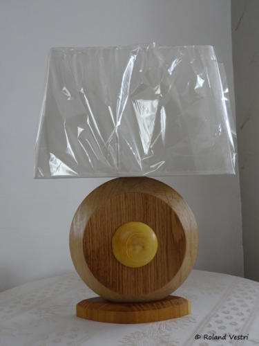 Lampe (chêne, buis, acacia)