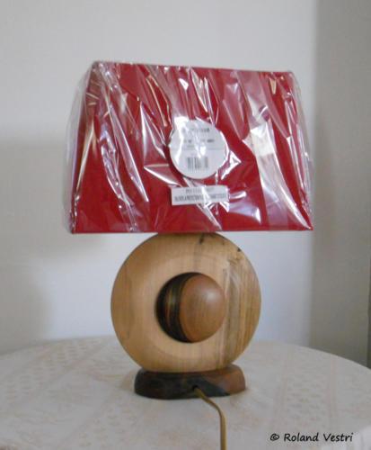 Lampe (érable, noyer)